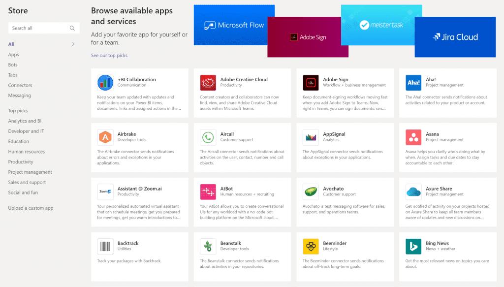 Microsoft Teams - App Store