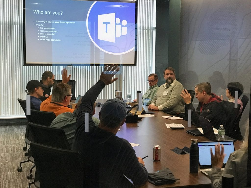 Mike Dixon presenting at SharePoint Saturday New England 2018